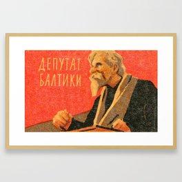 Soviet Film Poster Baltic Deputy Framed Art Print