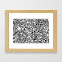 Cell Pattern Framed Art Print