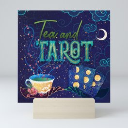 Kelly-Ann Maddox Collection :: Tea and Tarot (Illustrated) Mini Art Print