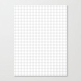 Small Diamonds - White and Pale Gray Canvas Print