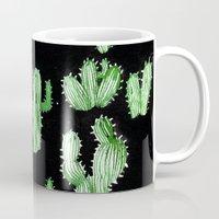cactus Mugs featuring Cactus Beard Dude by David Penela