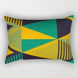 Green Triangles Rectangular Pillow
