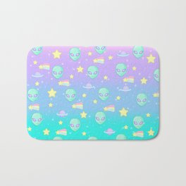 Fairy Kei Kawaii Aliens Bath Mat