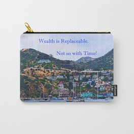 """""""Catalina Harbor""""/ """"Time"""" Carry-All Pouch"""