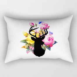 Floral Buck Rectangular Pillow