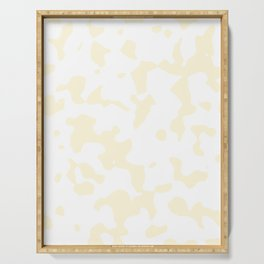 Large Spots - White and Cornsilk Yellow Serving Tray