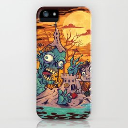 Zombie At The Beach  iPhone Case