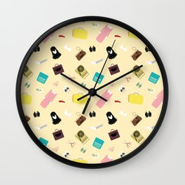 Moonrise Kingdom's Suzy Bishop Pattern Wall Clock