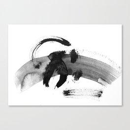 Brush black away Canvas Print