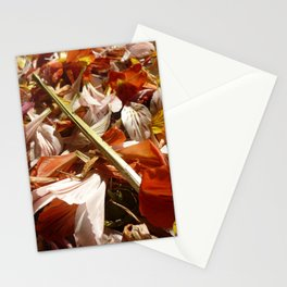 Flowers on a table  Stationery Cards