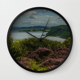 Heather and sea Wall Clock