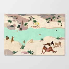 River in the Desert Canvas Print