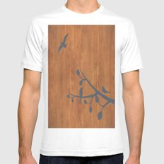 free as a bird White Mens Fitted Tee MEDIUM