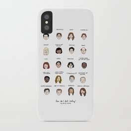 The Office Mood Chart iPhone Case