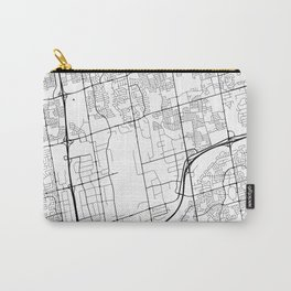 Vaughan Map, Canada - Black and White Carry-All Pouch