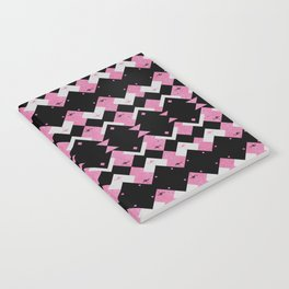 Pink Flamingos Art Deco Pattern Notebook