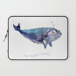 Rigth Whale artwork Laptop Sleeve
