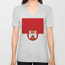 flag of Hanover or Hannover Unisex V-Neck