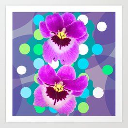 Orchid Spot Collage Art Print