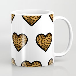 Baesic Leopard Hearts Coffee Mug