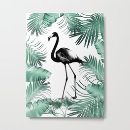 Flamingo in the Jungle #2 #tropical #decor #art #society6 Metal Print