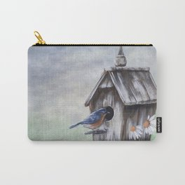 Daisies and Bluebirds Carry-All Pouch