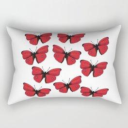 Red butterfly Spring Art Rectangular Pillow