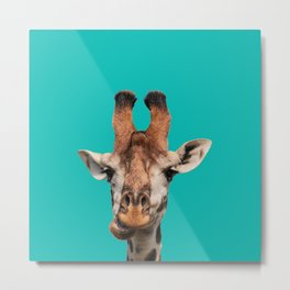 Gee Raffe the Giraffe Metal Print