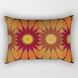 Orange flower pattern daisy Rectangular Pillow