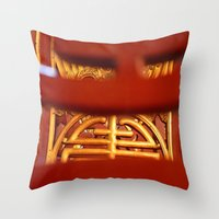 literature Throw Pillows featuring Temple of Literature by DrCaroline