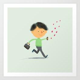 Boy in Love #3 Art Print