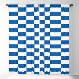 Bars (Bright Blue) Blackout Curtain