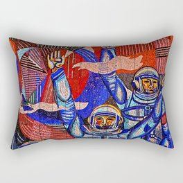 Asteroid Blues Rectangular Pillow