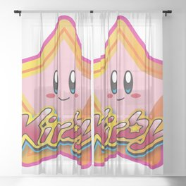 Kirby the Superstar (Icon) Sheer Curtain