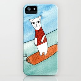 Meow the cat- Sometimes you gotta roll with it iPhone Case