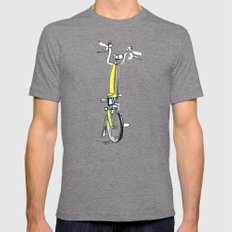 Brompton front view Mens Fitted Tee Tri-Grey LARGE