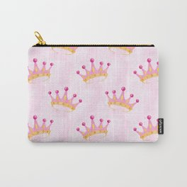 Pink Princess Crown Carry-All Pouch