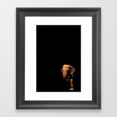 Elephant Emerging from the Dark Framed Art Print