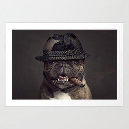 French bulldog with cigar Art Print