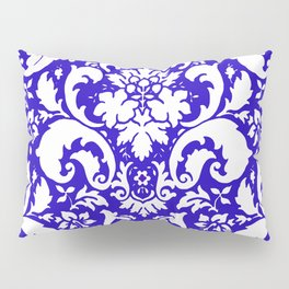 Paisley Damask Blue and White Pillow Sham