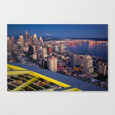 Seattle in the Evening, from the Space Needle Canvas Print