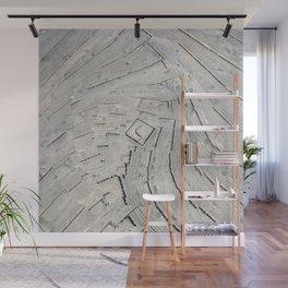 Wooden Swirl Wall Mural