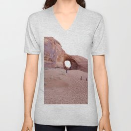 The Ear, the Backcountry, the Sand, and my Dad Unisex V-Neck