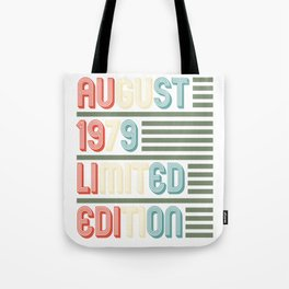August Cool Vintage Retro Birthday Gift For Your Wife And Husband For Their 40th Birthday Natal Day Tote Bag
