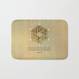 Forest & Axe — Illustrated Quote Bath Mat