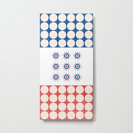 Tic Tac Toe - Towels & more Metal Print