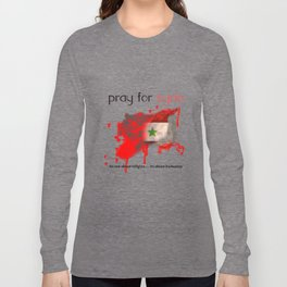 Pray for syria Long Sleeve T-shirt