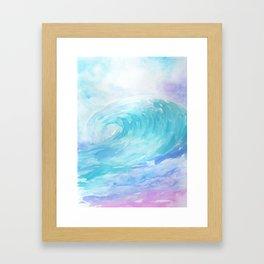Ombre Wave Framed Art Print