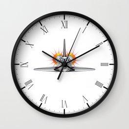 Speeding Space Shuttle Wall Clock