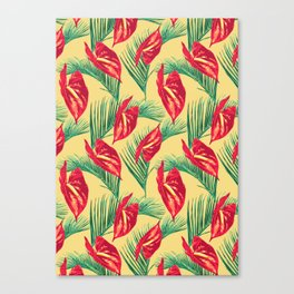 Pop Tropical Leaves Seamless Pattern Series 3 Canvas Print